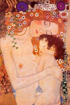 Gustav Klimt Mother And Child ii